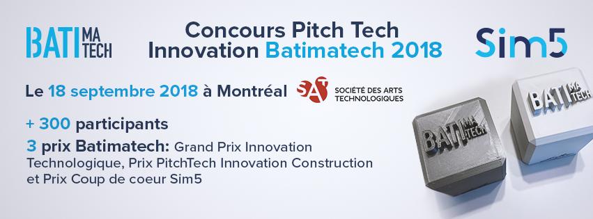 Concours Pitech Tech innovation batimatech 2018