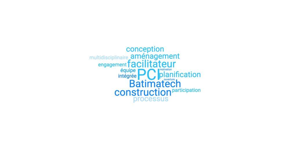 PCI processus conception intégrée nuage de mots