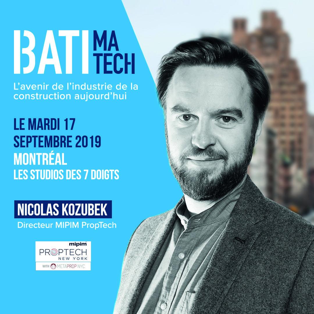 Conférencier Batimatech Nicolas Kozubek