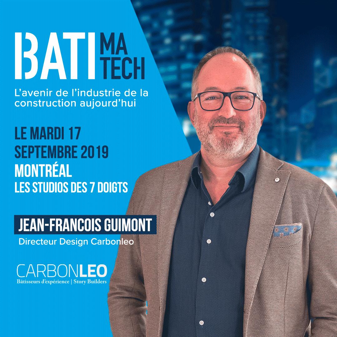 conférencier Batimatech Jean-François