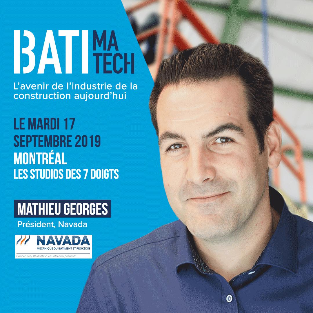 Batimatech conférencier Mathieu Georges